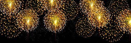 Fireworks summer festival watercolor background