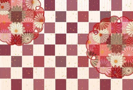 Autumn chrysanthemum Japanese pattern background