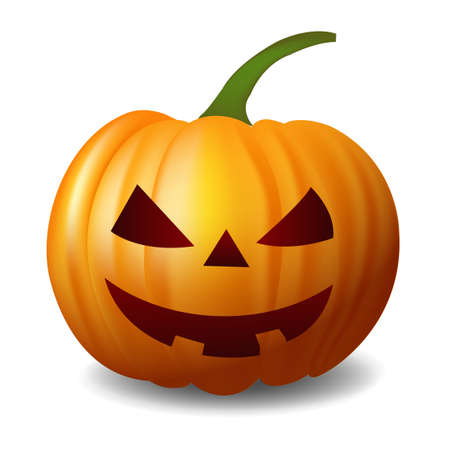 Halloween pumpkin haunted autumn icon Vector Illustratie