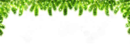 Christmas fir tree winter background