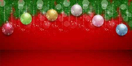 Christmas snow winter light background