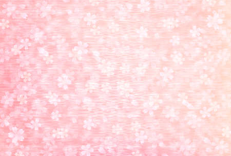 Cherry Blossoms Watercolor japanese pattern background