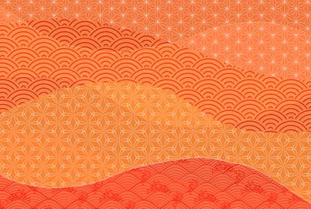 Japanese pattern autumn pattern background