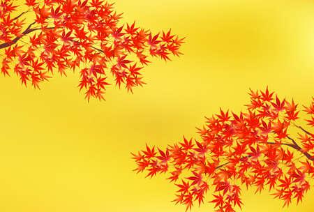 Autumn leaves maple autumn background Illusztráció