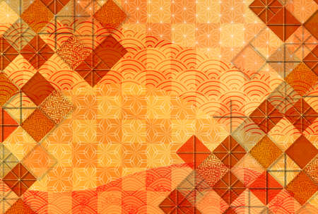 Japanese pattern autumn pattern background Stock fotó - 155416521