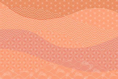 Japanese pattern autumn pattern background Stock fotó - 155416571
