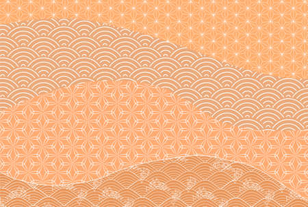 Japanese pattern autumn pattern background Stock fotó - 155416574