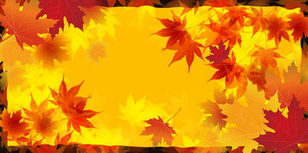 Halloween autumn leaves maple background