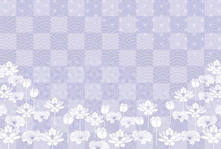 Mourning Japanese pattern postcard background