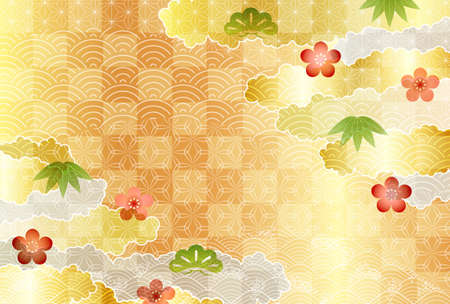 Japanese pattern New Year's card pattern background