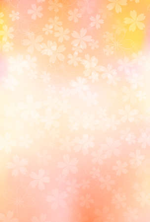 Cherry Blossoms Japanese pattern New Year's card background 向量圖像