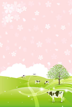 Cow New Year's card Zodiac background