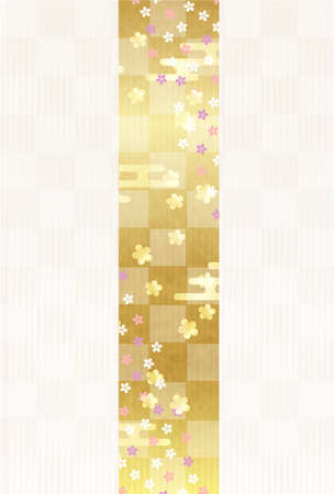 Japanese pattern New Year's card Cherry Blossoms background 矢量图像