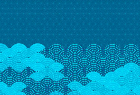 Japanese pattern New Year's card wave background