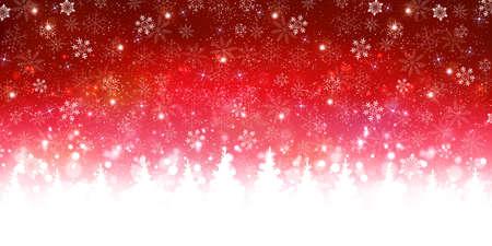Christmas snow winter star background