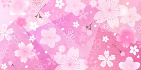 Cherry tree Japanese pattern spring background