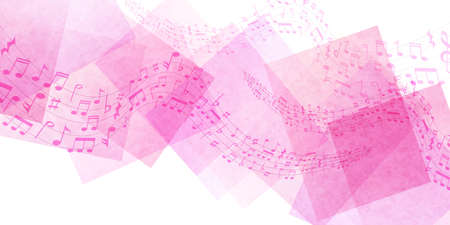 Musical note watercolor Japanese pattern background