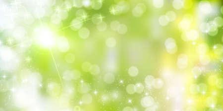 Fresh green sky spring background Illustration