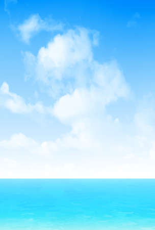 Sea sky clouds landscape background