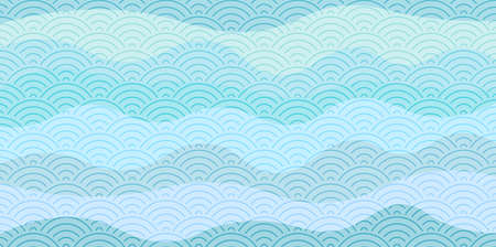 Sea wave Japanese paper background 写真素材 - 167124718