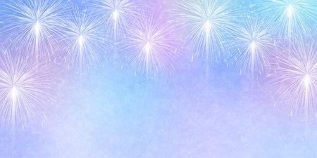 Fireworks summer greetings landscape