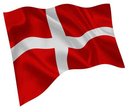 Denmark national flag world icon Vektorgrafik