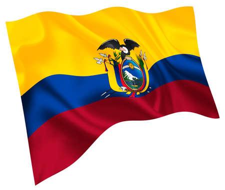 Ecuador national flag world icon Vetores