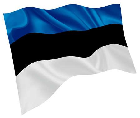 Estonia national flag world icon Vektoros illusztráció