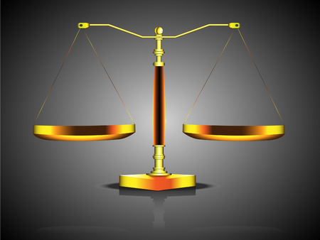 fairly: Symbol of law with justice hold-Illustration
