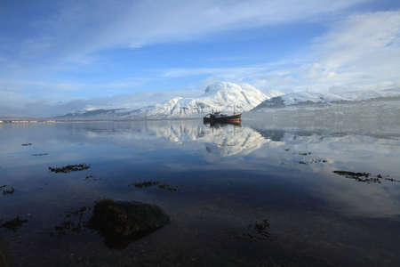 Ben Nevis and Loch Linnhe in winter. photo