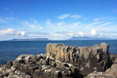 rhum: Isles of Eigg and Rum from Mallaig.