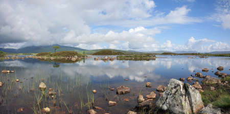 black moor: Rannoch Moor in Summer. Stock Photo