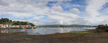 Mull: Tobermory bay on the Island of Mull. Stock Photo
