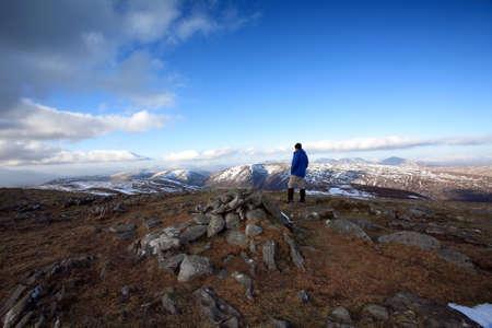 rambler: Walker in the Scottish Highlands.