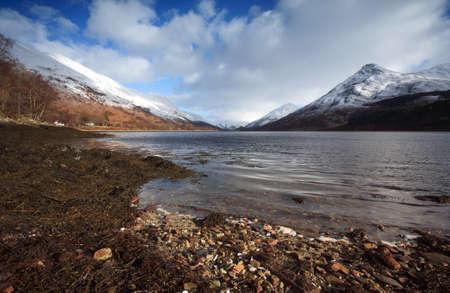 pap: Loch Leven in Lochaber. Stock Photo