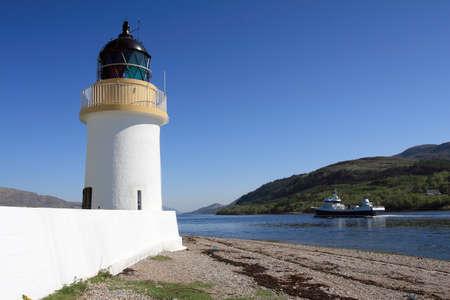 loch: Ardgour lighthouse on Loch Linnhe.