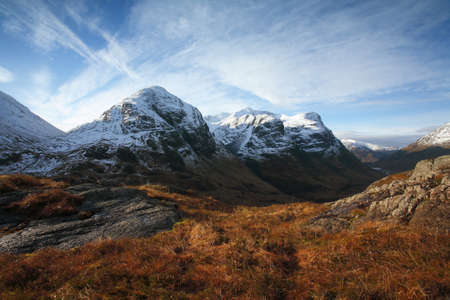 highlands: Three Sisters in Glencoe. Stock Photo