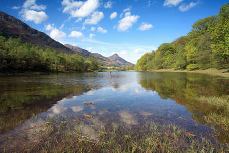 pap: Pap of Glencoe and Loch Leven. Stock Photo