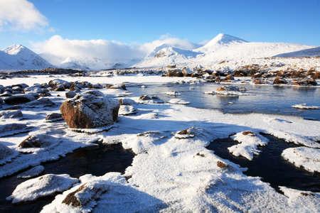 scotland landscape: Rannoch Moor in winter.