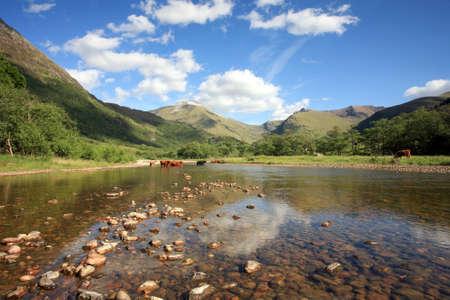 glen: Glen Nevis in summer. Stock Photo