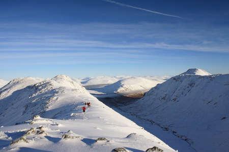 glencoe: Winter climbers in Glencoe.