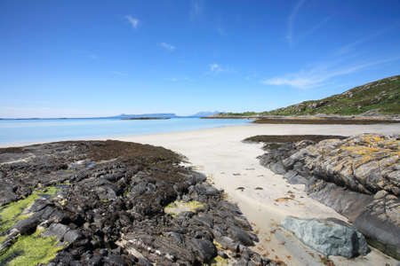 rhum: Islands of Eigg and Rum from Morar in the Scottish Highlands