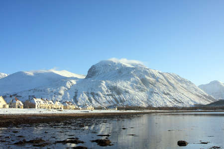 loch: Ben Nevis and Caol in winter  Stock Photo