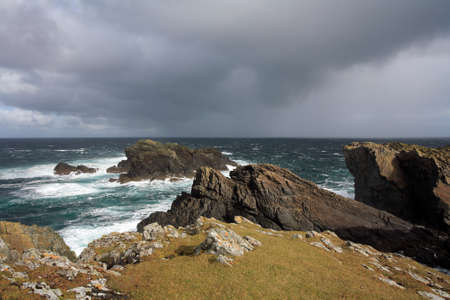 isle: Butt of Lewis on a stormy day