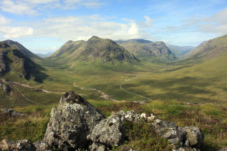 highland: Glencoe in the Scottish Highlands   Stock Photo