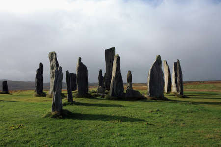 isle: Standing stones at Callanish on the Isle of Lewis   Stock Photo