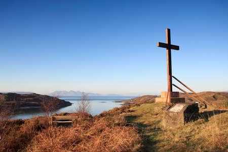 rhum: Morar Cross on the road to the isles