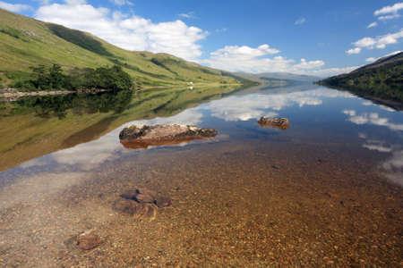 loch: Loch Arkaig reflections   Stock Photo