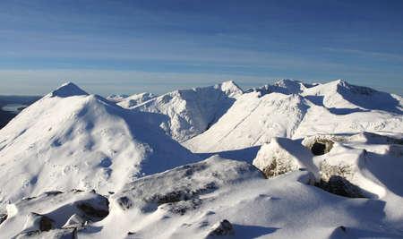 glencoe: Glencoe hills in Winter   Stock Photo