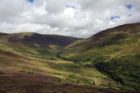 ice age: Parallel Roads in Glen Roy formed by the last ice age   Stock Photo